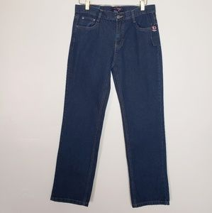 Cambridge blue straight leg jeans